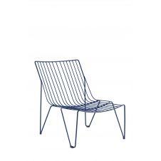 Chaise longue en acier bleu
