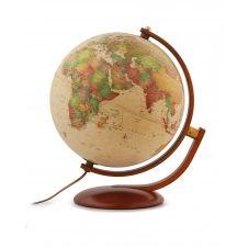 OPTIMUS – Globe terrestre, style antique, lumineux, textes en français