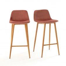 Lot de 2 chaises de bar hautes, Lavergne