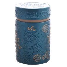 Petite boite bleue pour le thé contenance 150g