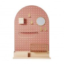 Panneau perforé en métal rose 46×70