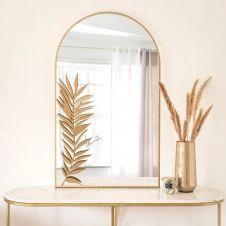 Miroir en métal doré 60×100