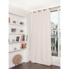 Rideau phonique thermique occultant beige 140×260