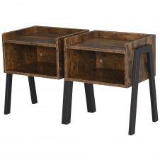 Lot de 2 tables de chevet style industriel