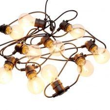Rallonge guirlande guinguette extensible 10 ampoules LED