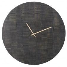 Horloge noire gravée D100