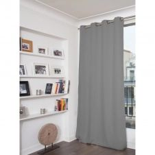 Rideau phonique thermique occultant gris 140×260