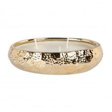 Bougie parfumée ivoire en céramique dorée