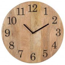 Horloge en manguier gravé D40