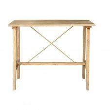 Table de bar en manguier massif et métal doré L130 cm MARGHA
