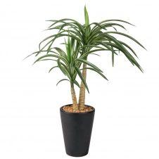 Yucca artificiel pot noir