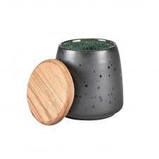 Pot avec couvercle Bitz 12 cm Noir-vert