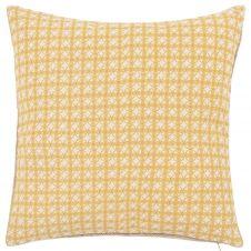 Housse de coussin en coton, jute et lin 40×40