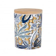 Bougie parfumée en céramique imprimé tropical multicolore