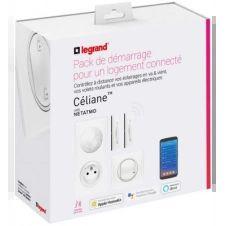 Prise connectée Legrand Kit démarrage Céliane with Netatmo Blanc