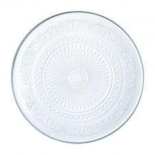 Assiette plate transparente D25cm