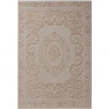 Tapis  baroque en polyester beige 160×230