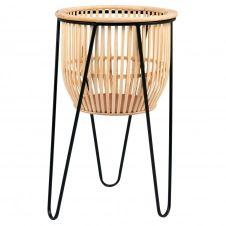 Cache-pot en bambou et métal