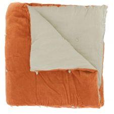 Edredon en velours de coton 90×200 cm orange