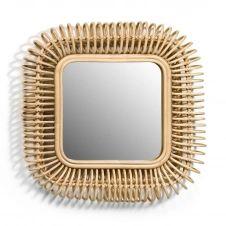 Miroir rotin carré L55 x H55 cm, Tarsile