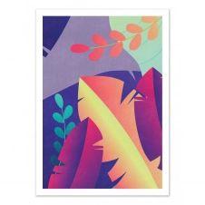 GRADIENT FLORAL – SEVEN TREES –  Affiche d'art 50 x 70 cm