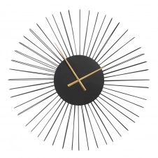 Horloge filaire noir mat 80×80