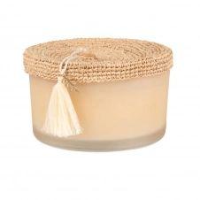 Bougie parfumée en céramique rose et papyrus
