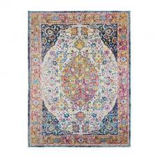 Tapis pour intérieur-extérieur médaillon multi 160×230