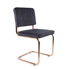 Chaise en tissu gris anthracite