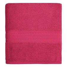 Drap de bain uni 550gr/m²  Rose Indien 100×150