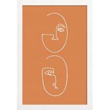 Affiche avec cadre en bois (Blanc) en Marron & /30×45