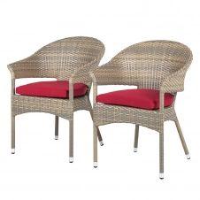 Chaises de jardin Felice (lot de 2)