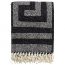 Plaid en laine Memphis 130×200 cm Black