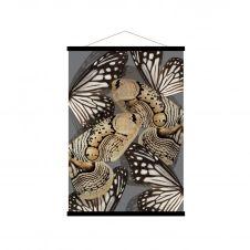 Affiche kakemono en toile noire 50×70