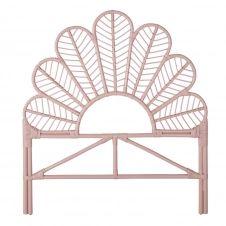 Tête de lit 90 en rotin rose  Siwa