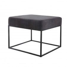 Tabouret carré en métal noir