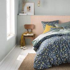 Housse de couette bicolore en coton 140×200
