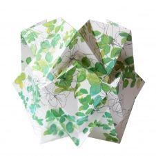 Lampe de table origami en papier motif printemps taille M