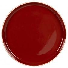 Assiette plate en grès rouge