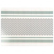 Set de table motifs graphiques verts