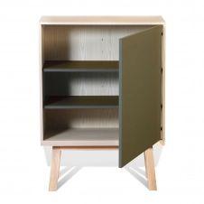 Armoire 1 porte en bois vert lancieux