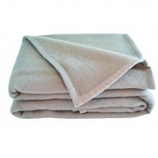 Couverture en laine gris 260×240
