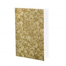FLOWERS – Cahier ligné imprimé floral doré