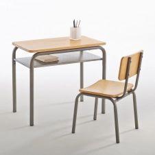 Bureau et chaise d'écolier vintage Buton