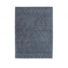 Tapis à motifs losanges bleu 133×180