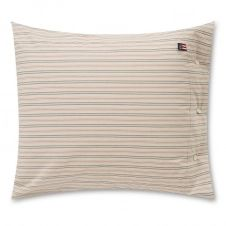 Oreiller Striped Cotton Popeline 50×60 cm Light beige-multi