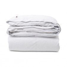 Couette Striped Cotton Seersucker 150×210 cm Gris clair-blanc