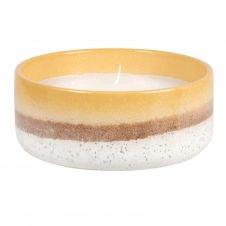 Bougie parfumée en céramique beige et jaune