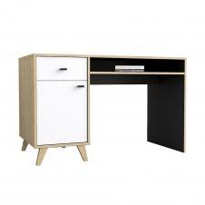 Bureau avec tiroir et placard en bois