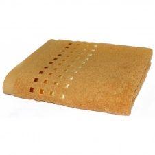 Drap de bain uni en 100% coton jaune 100×150